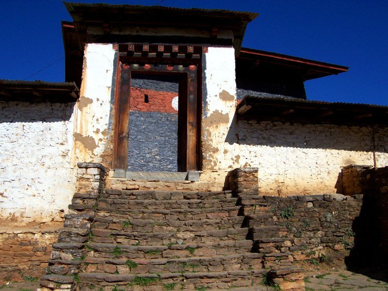 Main Door to one of the Best Places To Visit In Thimphu Bhutan, an ancient temple named Changangkha Lhakhang