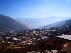 One of the Things To See In Thimphu Bhutan, breathtaking view of Thimphu valley from an ancient temple named Changangkha Lhakhang