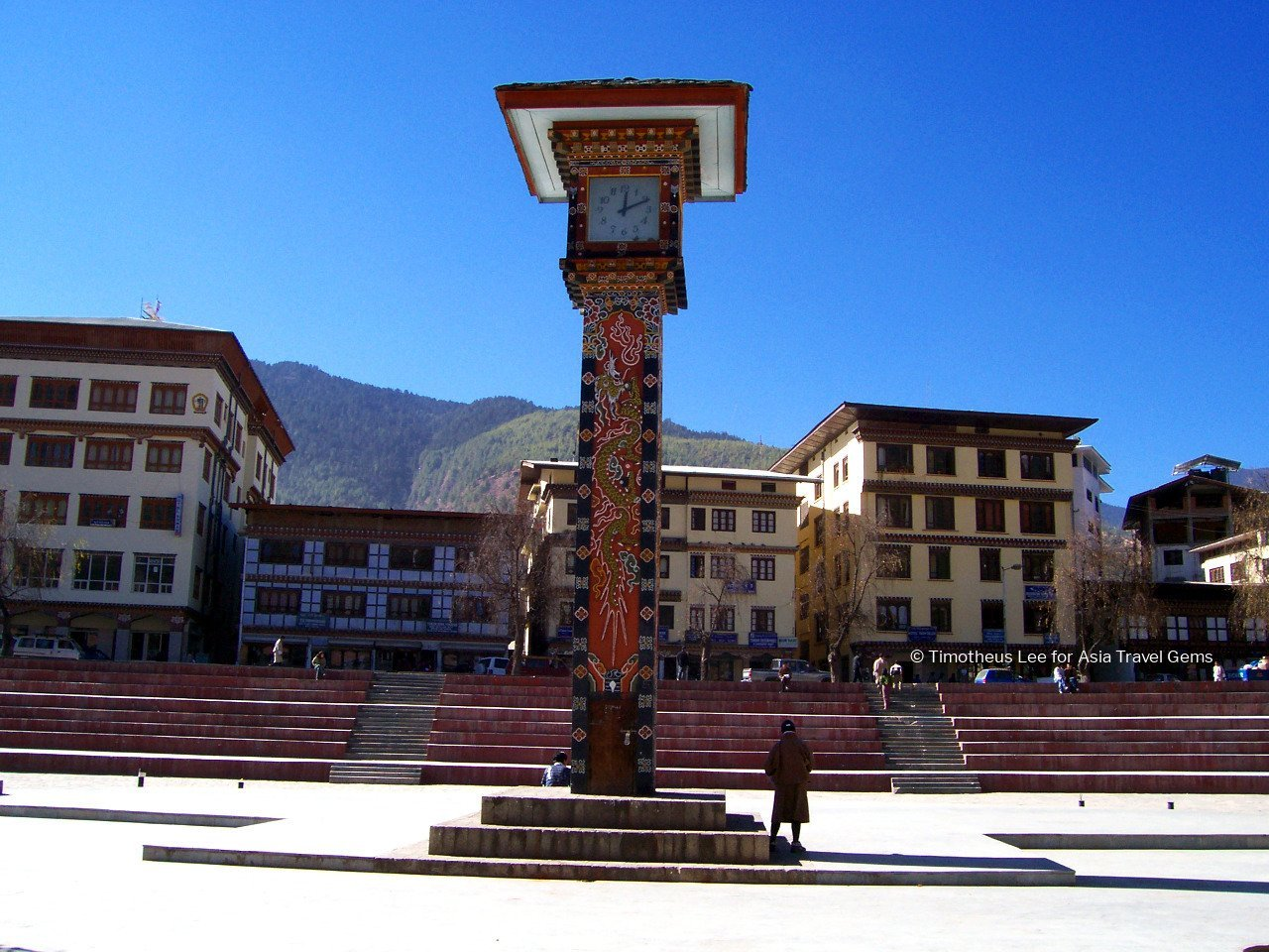 Best Places To Visit In Thimphu Bhutan - Clock Tower Square, Front View