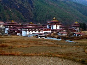 Another angle of Tashichho Dzong
