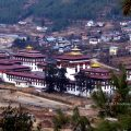 Tashichho Dzong as seen from afar