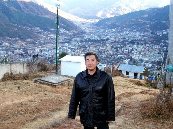 One of the Best Places to Visit in Thimphu Bhutan - Timotheus reached top of Radio Tower Hill