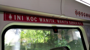 When taking the KTM Komuter train to one of the Best Places To Visit In Kuala Lumpur, do take note that some cabins of the train are only for women. Do Not Sit In These Cabins. Please be respectful of their culture.