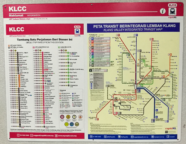 Map of train system to get to one of the Things To See In Kuala Lumpur - Batu Caves