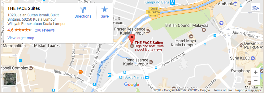Kuala Lumpur Hotels - The FACE Suites Location