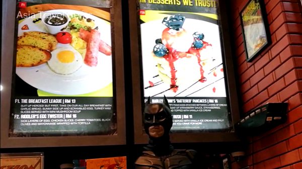 Best Places To Eat In Kuala Lumpur - DC Comics Super Heroes Cafe, main courses with Super Heroes names