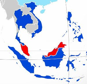 Holidays in Malaysia - map