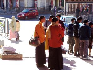 Best Places To Visit In Thimphu, Bhutan - Monks Shopping along Norzin Lam