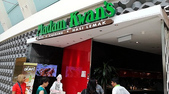 Best Places to Eat In Kuala Lumpur - Madam Kwan KLCC - Outside Restaurant, Front