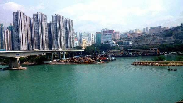 What To See In Hong Kong - View from MTR train en route to Tung Chung MTR Station that is on Lantau Island
