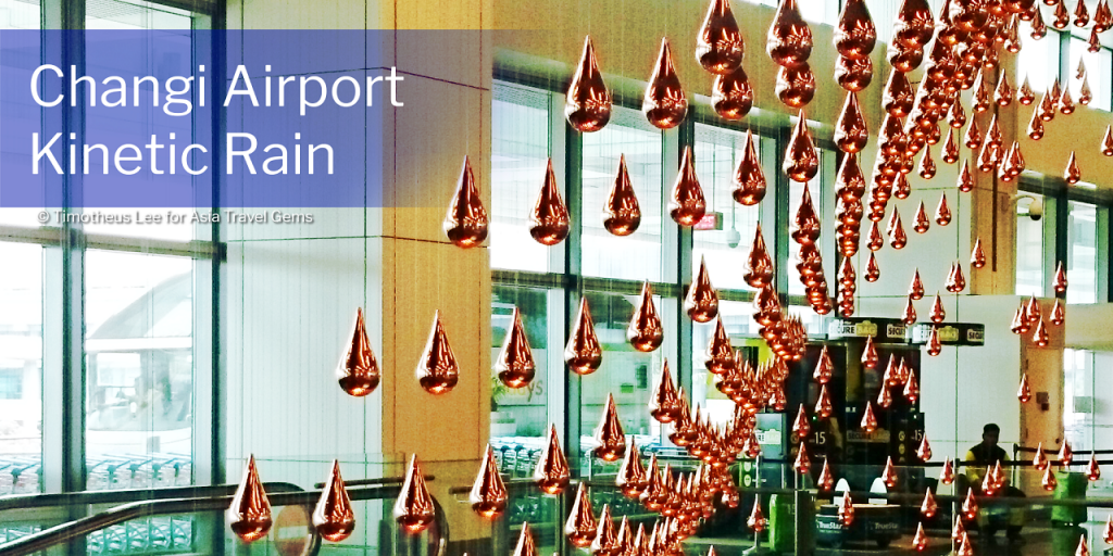 Things To See In Singapore - Changi Airport Kinetic Rain. Click Image to See More