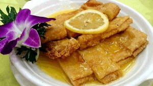 Good Food In Hong Kong - Deep Fried Bean Curd Sheets with Lemon Sauce