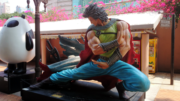 Statue of Cloud from Storm Warriors at Avenue of Comic Stars