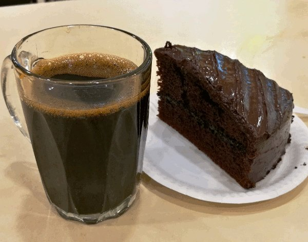 Best Places To Eat In Singapore - Coffee and Chocolate Cake