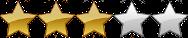 Three Point Stars Rating