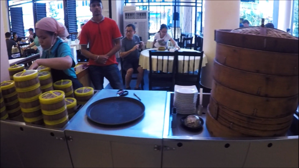 Assorted Steamed Dim Sum Counter