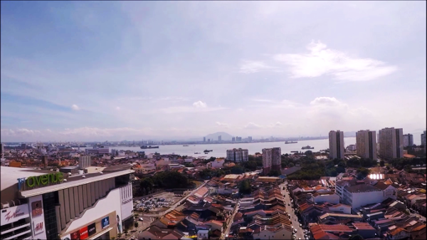 View of Penang from one of the Penang Hotels - Cititel Express Penang