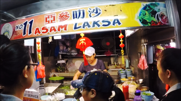 Penang Laksa also known as Assam Laksa,. Notice the queue?