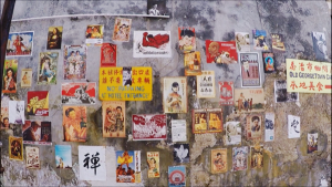 Not mural art but just as creative - a wall of old posters