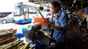 Making Fresh Sugar Cane Juice