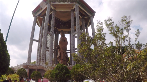 side view of Giant statue of Kuan Yin, Goddess of Mercy