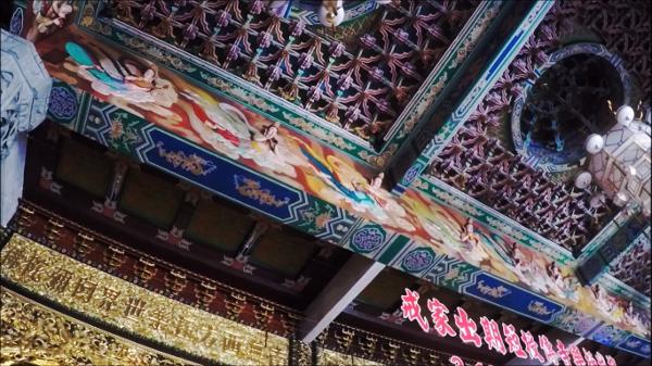 Beautiful Artwork on the ceilings of prayer halls