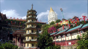 View of Pagoda of Ten Thousand Buddhas from afar