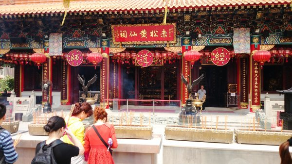 Devotees Praying at Wong Tai Sin Temple