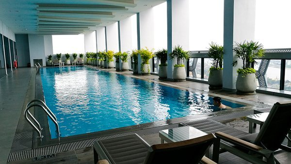 Indoor Swimming Pool at 39th Floor of The Bridge Club Hotel