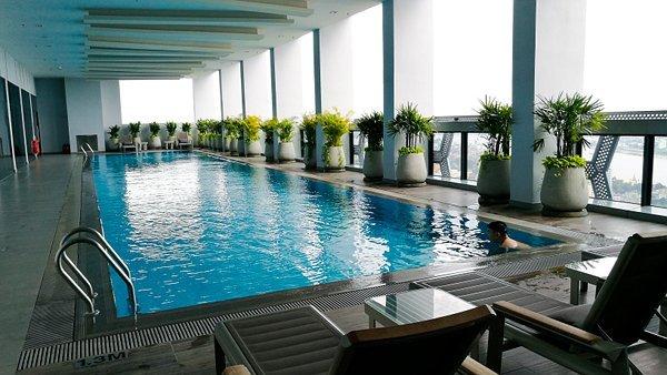 Indoor Swimming Pool at 39th Floor of The Bridge Club Hotel