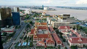 Phnom Penh Hotels - The Bridge Club Deluxe Double Room with City View - Great View of the City and Mekong River!