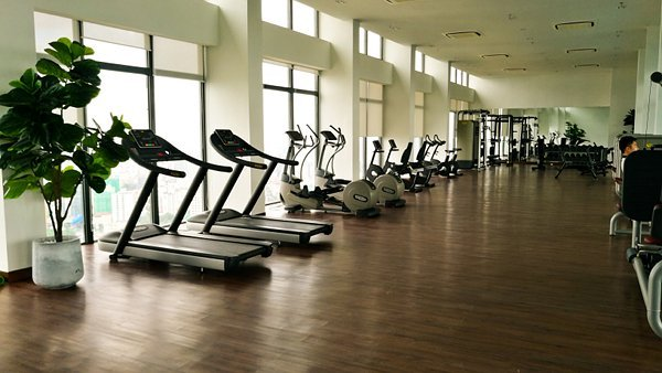 The large gym at The Bridge Club