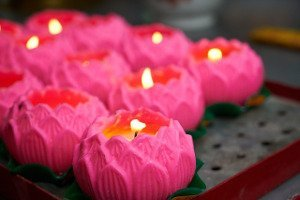 Prayer Lotus Candles