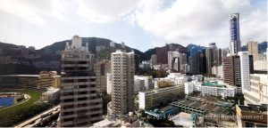 View of Happy Valley, Mountains and City from Deluxe Room of Butterfly on Morrison