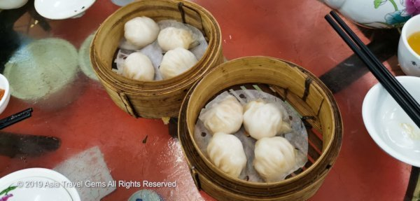 Hong Kong Food - Super Delicious Dim Sum known as Har Gow (Shrimp Dumpling)