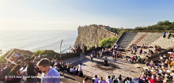 Audience Start to Arrive for Uluwatu Kecak Dance Performance