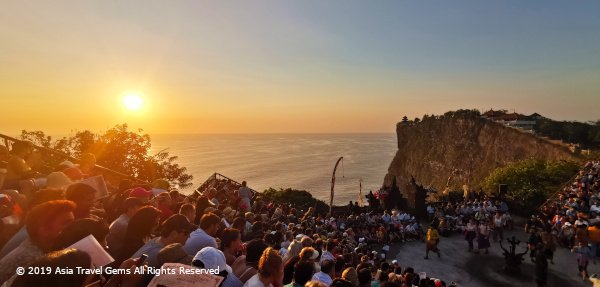 Beautiful Sunset at The Uluwatu Temple