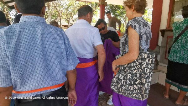 Sarong and Sash Dress Code at The Uluwatu Temple