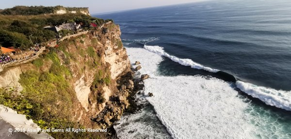 View of Cliff and Waves at The Uluwatu-Temple