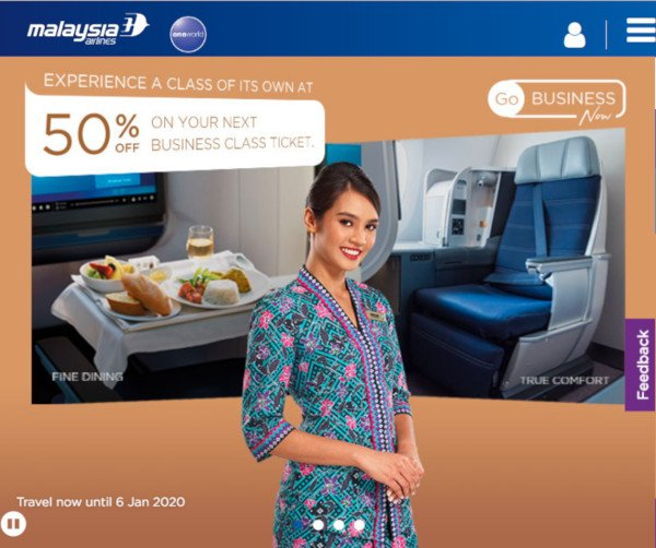 Malaysia Airlines Black Friday Deal 2019