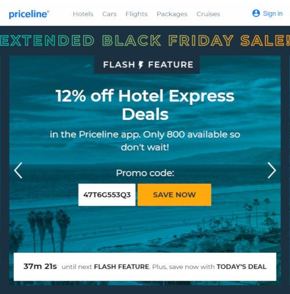 Priceline Black Friday Deal 2019