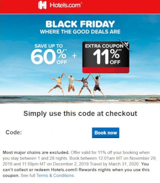 Hotels.com Black Friday Deal 2019