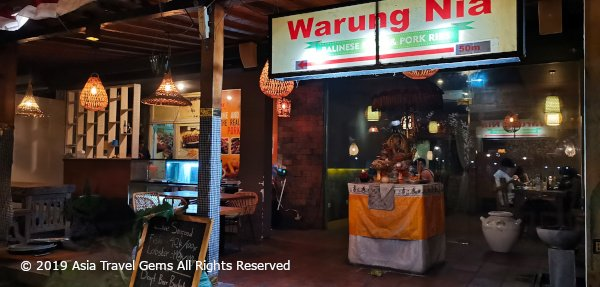 Best Places To Eat in Bali - Warung Nia - Main Signboard