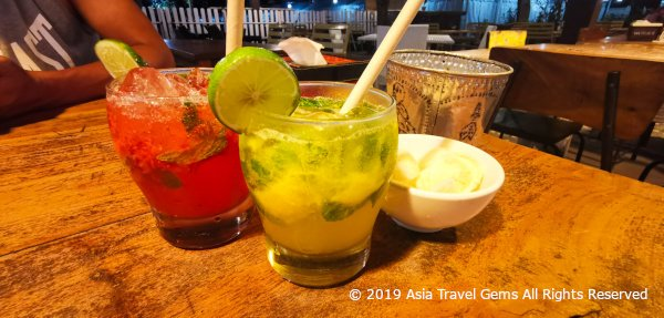 Warung Nia - Refreshing Drinks - Mango Crush and Virgin Colada